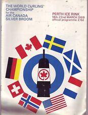 World Curling Championship Air Canada Silver Broom March 1969 Program