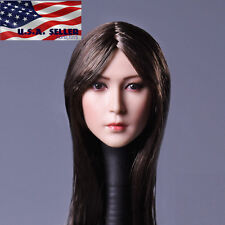 1/6 Female Head Sculpt Long Straight Hair A for Phicen Hot Toys Figure ❶USA❶