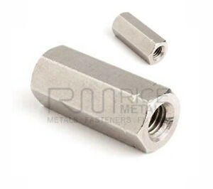 M6 M8 M14 A2 Stainless Stud Connectors - Long Nuts Hex Studding Connector Nuts