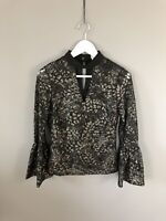 COAST Top - Size UK6 - Black & Silver - New Without Tags - Women's
