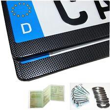 2 x Kennzeichenhalter Nummernschildhalter Kennzeichenhalterung Carbon Optik  NEU