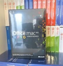 NEW & SEALED MICROSOFT OFFICE 2011 HOME & BUSINESS MAC DVD W6F-00063 GENUINE UK