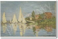 Regatta at Argenteuil 1872 - Claude Monet French Impressionist Art Print POSTER