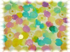 Pois Fleur Baumwolle Popeline weiß grün 50 cm Hilco nähen Punktestoff Stoff