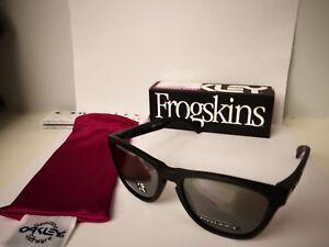 NEW Oakley - POLARIZED Frogskins - MATTE BLACK / PRIZM BLACK POLARIZED OO9013-F7