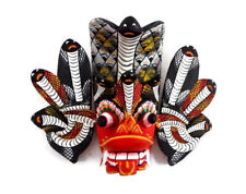 "Hand Carved Wooden Home Decor Sri Lankan Traditional Cobra Mask 6"" (Protection)"