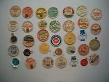 Antique Lot of 34 Milk Token from Quebec Canada All Different!