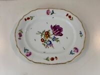 Vintage Antique German Meissen Porcelain Serving Tray / Platter w/ Floral Dec.