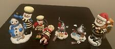 Christmas Lot of 6 Hershey's Ornaments and Hershey's Figurines