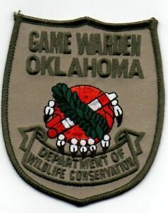 OKLAHOMA OK GAME WARDEN DEPARTMENT OF WILDLIFE CONSERVATION NEW PATCH POLICE