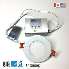 3'' Recessed LED Panel Light Ceiling/Pot Light 6W Dimmable Warm White 3000k ETL
