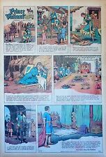 Prince Valiant by Hal Foster - scarce full page Sunday comic - April 27, 1969
