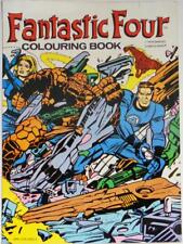 FANTASTIC FOUR COLOURING BOOK-1978-MARVEL COMICS UK-JACK KIRBY-ROMITA-BUSCEMA