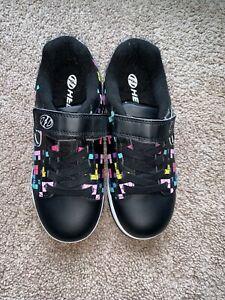 HEELYS Dual Up X2 Youth Size 2Y Black/Blue/Pink/Yellow Checkered