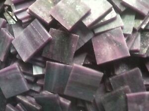 Purple Opalescent Stained Glass Mosaic Tiles - 25 ct - 3/4 inch - DTI
