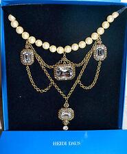 "Dripping Bib Necklace Swarovski Crystals New $290 Heidi Daus ""Enduring Drama"""