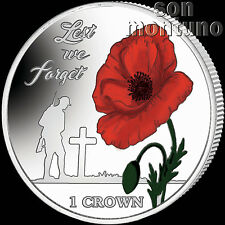 LEST WE FORGET - 35th Anniv Falklands Liberation 2017 Cupro Nickel Coin w/ COLOR