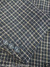 A. MILTENBERG Brown & Black Check Pure Wool Tweed Jacket 2XL / UK 46 / Reg
