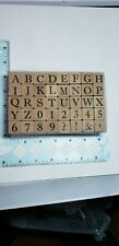 Set of Rubber Stamps Numbers Alphabet Monogram, Initials Font