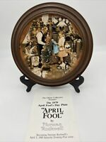 """VTG 1979 Norman Rockwell GHENT COLLECTION """"April Fool's Day"""" Collector Plate"""