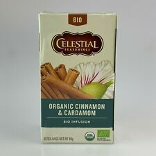 Celestial Organic Cinnamon and Cardamom  Bio Infusion Pack of 20 Teabags 35g