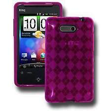 AMZER Luxe Argyle Skin Fit Case Cover for HTC Aria - Hot Pink