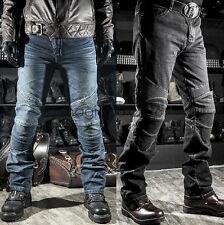 Motorcycle Biker Denim Jeans Distressed Pants Trousers Protection Pads KOMINE