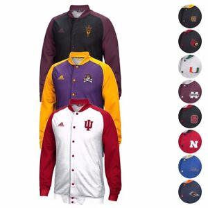 NCAA Adidas Modern Varsity Full Button Down Anthem Jacket Collection Men's