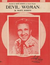 Marty Robbins Sheet Music: Devil Woman Aussie 4pp Ex+ 1962
