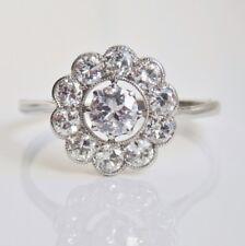 Stunning Vintage Art Deco Platinum Diamond Cluster Ring (Est' 1.03cts) c1930