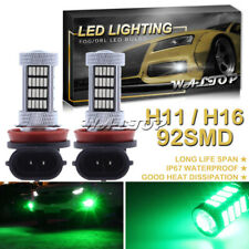 2x 92SMD H16 H11 H8 Green Projector LED Fog Light Bulb Super Bright High Power