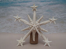 SALE Starfish Tree Topper- Natural, Gold or Silver- Beach Christmas Coastal Xmas