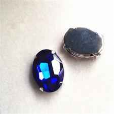 10x14mm cose en Diamantes de Imitación Vidrio Cristal Oval Cabujones Hazlo tú mismo vestido Bling 10 un