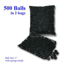 "500 pcs 1"" Bio Balls w Sponge Filter Media for Aquarium Reef Koi Fish Pond Tank"