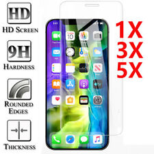 5Pcs 9HTempered Glass Screen Protector For iPhone 12 Mini 11 Pro X XR XS Max 7 8