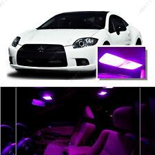 For Mitsubishi Eclipse 2006-2012 Pink LED Interior Kit + Pink License Light LED