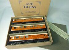 More details for boxed o gauge ace trains c4 lner gresley teak coach 3 car set