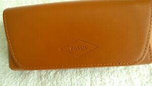 Fossil,Glasses Case,Genuine Leather,Brown