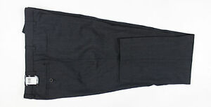 Remus Uomo - Charcoal Flat Front Wool Trousers - Size W30 L32 - RRP £75