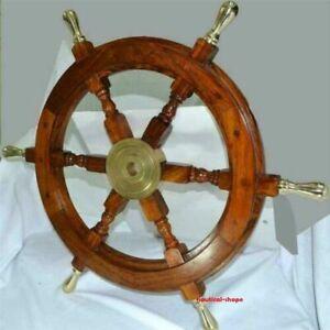 Antique Maritime Nautical Maritime Wooden ship wheel Vintage unique home decor