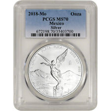 2018 Mexico Silver Libertad 1 oz 1 Onza - PCGS MS70