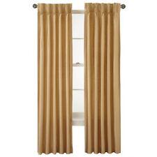 "Royal Velvet Supreme Pinch-Pleat/Back-Tab Panel Curtain 37x63"" Linen A44"