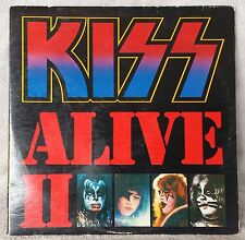 "KISS 1978 ALIVE II 12"" Vinyl 33 Dbl LP LIVE HARD ROCK Compilation Casablanca VG+"
