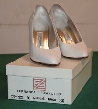 Scarpe femminili da cerimonia Fernanda Zanotto. Scarpe da sposa bianche