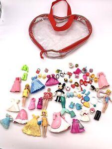 Disney Parks Minnie Mouse Polly Pocket Doll Fashion Set Lot Case Plus Extras