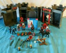 Playmobil 5 Caballeros Medievales 5803 Rojo Lobos Castillo tomar a lo largo de + 4524 hombre de hacha