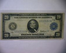 1914 $20 Dollar Federal Reserve Large Size Transportation Note Chicago, Ill.
