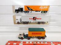 CA545-0,5# 3x Wiking 1:87/H0 US-LKW: 527 Sealand/Allied+Trans-Europa NEUW+2x OVP