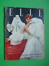 ELLE French fashion magazine Juin 1952 Collections Plein été Summer Givenchy RAR