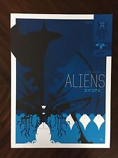 Tom Whalen Aliens screen print regular Alien Poster Art